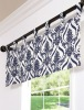 100%Polyester Printed Tab-Top Valance Printed Valance Curtain Valance