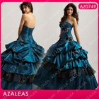AZ0749 Beading Embroidery Ruffle Floor Length Sweethweart Quinceanera Dresses
