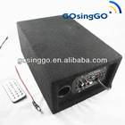 DC 12V AC 220V usb sd motorcycle subwoofer