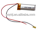3.7V 100mAh Rechargeable batteries lithium polymer
