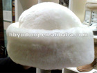 Comfortable/Sheepskin Lady fur Hat in white color