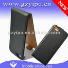 Top quality magnetic foldable checked hard back cover flip pu case for iphone 5 pouch