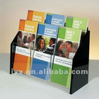 acrylic plastic book display rack for cinema