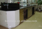 lab stainless steel double work bench/ lab furniture/steel or iron wardroble design