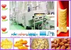 oil curtain frying machine, oil saving snacks frying production line