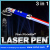 3 in 1 Laser Pointer/LED Flash Light/Ultraviolet UV Torch Blue