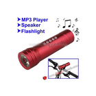 3 in 1 Multifunctional Music LED Bicycle Flashlight (MP3 Player + Speaker + Flashlight)-Red