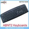 Nine Hotkeys Wired Multimedia Usb ABNT2 keyboard For Brazil