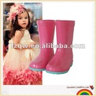 Lovely princess kids rain boots
