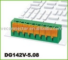 5.08mm pcb terminal block,dip to pcb