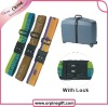 polyester luggage belt with lock