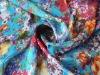 Rayon chiffion fabric