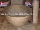 natural stone oval bathtub