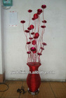 Sinlech 3016 latest fashion Aluminum rose table lamp table light red led flower lamp