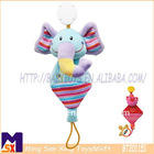 2011 newest infant multi plush stuffed elephant soother clip rattle toy