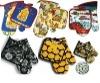 colorful kitchen gloves and potholder sets