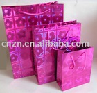 SHINNING PINK PAPER SHOPPING BAG