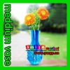 TOP supplier in CHINA factory outlets more than 1000styles free samples customized logo meddium vase15cm*27 plastic flower vase