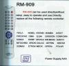 universal remote controlv RM-909