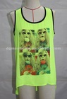 2012 latest sleeveless sunnie tank with beautiful prints