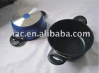 Stock Pot: made of Die-cast Aluminum, ILAG 3 layers Non-stick coating, Convenient to Use and Clean.