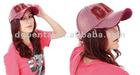 Embroidered unisex cotton torn sports cap running cap
