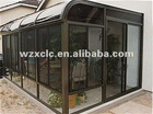 Custom made curved glass sunrooms
