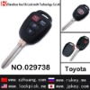 High quality key case/key shell/key cover/4 button remote key casing for toyota /029738