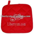 cotton twill potholder with hanging loop