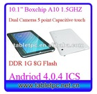 Dual Cameras 10.2inch boxchip A10 MID android 4.0 tabletpc/MID Front 1.3 MP Back 2MP(10A13)