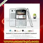 "Android 2.2 smart phone with QWERTY keyboard, Dual SIM, 2.6"" touch screen, Built-in GPS, WIFI,"
