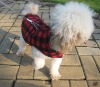 100%polyester polar fleece checker warm dog coats and jackets