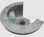 foundry large castings astm80-55-6 ductile cast iron green sand casting marine diesel engin parts crankshaft bearing