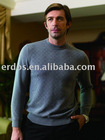 Men's R-Neck Jacquard Cashmere Sweater