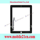 Touch Screen Glass Digitizer Replacement For iPad 3 White Free Shipping Wholesale Black