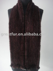 ladies' Mink knitted long Scarf