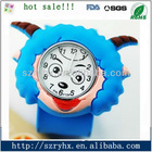 2012 hot cheap fashion silicone child watch promotional slap watch