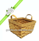 Cube Wood Chip Weaving Basket/Storage Basket For Festival And Fruit, Candy-----W0008-1