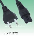 IMQ approval 2 pin plug and connector JL-11 power cable