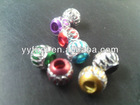 Aluminum jewelry space beads!wholesale mixed colors 6MM aluminum carve beads!