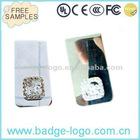 novelty designer small fancy money clip stainless steel
