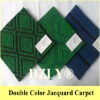Double colour jacquard carpet