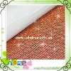 4mm metal rhinestone mesh trimming of 145cm*42cm