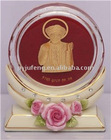 Crystal paper weight of india god