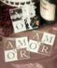 AMOR Glass Coaster Favors