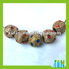 Fashion European Copper Bring Diamond Round Beads