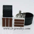 Men's Leather Cuff links
