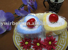 100% cotton towel cake gift(WBA-036)