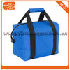 blue nylon tote men lunch bag for cans