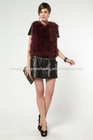 genuine turkey(ostrich) feather fur Vest/Waistcoat 2012 top fashion